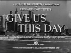 Give Us This Day 1949 DVD - Sam Wanamaker / Lea Padovani